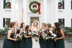 Bridesmaids Bouquets / Ryan & Darren / Crabtree Kittle House / Meg Miller Photography
