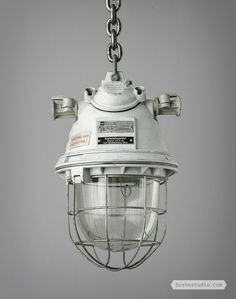 EXPLOSION PROOF LIGHTS: These substantial explosion proof lamps were manufactured around 1940.