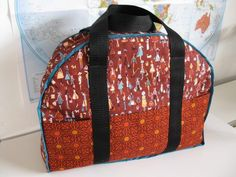 Carry On Travel Bag  PDF Sewing Pattern - by CandyCo Quilting