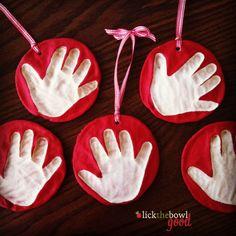 DIY Salt Dough Handprint Ornaments