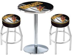 Arizona State Sun Devils Fork D2 Chrome Pub Table Set. Available in 28-inch or 36-inch diameter Table Top. Visit SportsFansPlus.com for details.