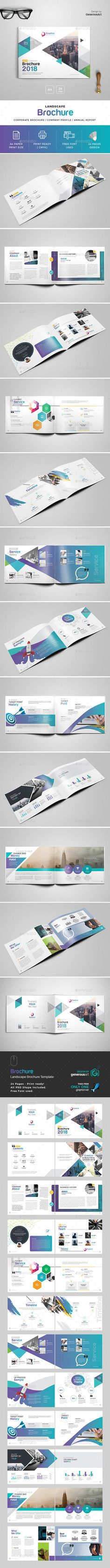 Company Profile Landscape Brochure Template Company profile - landscape brochure
