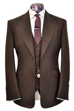 The Morgan Aubergine Over Brown - William Hunt Savile Row - 1