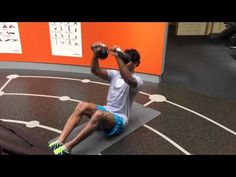 MMA MUSCLES - Sit up combined with a kettlebell chest press - YouTube