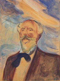 Edvard Munch, Holger Drachmann, 1898. Óleo sobre lienzo, 72 x 55 cm , Museo Munch, Oslo