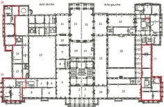 Plan du Palais Royal de Bruxelles
