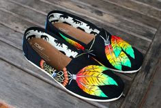 Rasta style Dream Catcher TOMS by BStreetShoes on Etsy, $149.00
