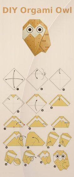 origami pöllö