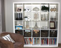 Neat-looking expedit that actually holds a lot of random stuff!