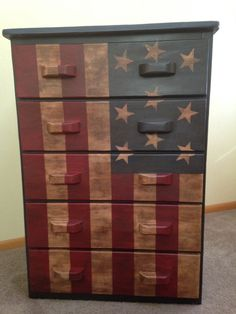 American Flag dresser done with American Paint Company paints.