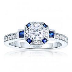 Gemstone Diamond Engagement Ring in Schaumburg, IL, Hoffman Estates, IL at Wyatt Austin Jewelers.