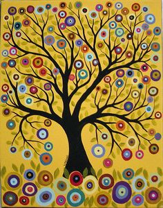 Tree of Life on Peach Painting by Karla G by karlagerard, via Flickr