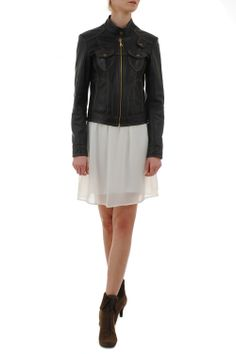 Geaca piele neagra Cropped Amelie, Skirts, Fashion, Moda, Fashion Styles, Skirt, Fashion Illustrations, Gowns, Amelia