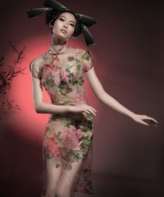 Sheer Modern Qipao 名模为杂志拍摄透明旗袍大片_Page2