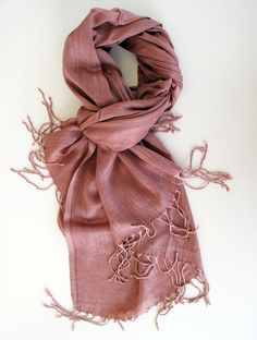 9a089be03b2 Dusty Salmon Soft Cotton Summer Scarf Natural Cotton  Wrap