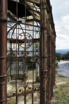 Abandoned victorian era greenhouse