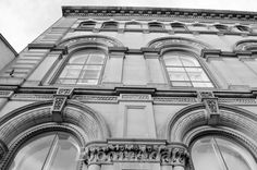 architecture black and white building