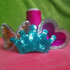 Sequin hair clips in different shapes!!