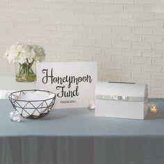 Wedding Reception Decorations Elegant, Gift Table Wedding, Our Wedding, Reception Ideas, Wedding Ideas, Traditional Wedding Gifts, Honeymoon Fund, Fun Express, Champagne Flutes