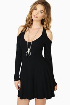 Close Friends Skater Dress in Black by #NastyGal
