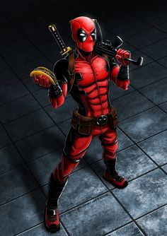 #Deadpool #Fan #Art. (Deadpool) By: Ryodita. (THE * 5 * STÅR * ÅWARD * OF: * AW YEAH, IT'S MAJOR ÅWESOMENESS!!!™) ÅÅÅ+