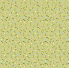 Ditsy floral green  fabric by raccoons_rags on Spoonflower - custom fabric