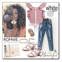 """""""ROMWE 4"""" by woman-1979 ❤ liked on Polyvore featuring Brewster Home Fashions"""