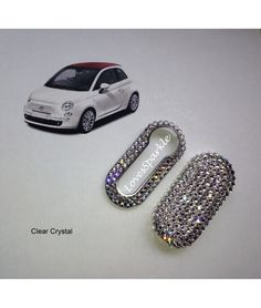 Swarovski Crystal Fiat 500 Key Cover