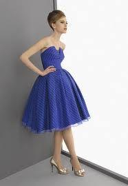vestido azul electrico de fiesta