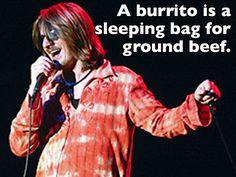 One very tasty sleeping bag... (Mitch Hedburg, we miss you!)