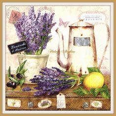 2 PAPER NAPKINS for DECOUPAGE - Lavender Vintage Romance  #116 by VintageNapkins on Etsy