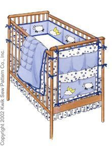 Crib Bedding Sewing Pattern now I can make even cuter ones then from the store that cost lots!