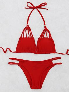 Shop Braided Detail Ladder Cutout Bikini Set online. SheIn offers Braided Detail Ladder Cutout Bikini Set & more to fit your fashionable needs.