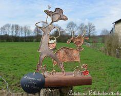 décoration interieure pour maison en campagne, figurine en ficelle, campagne, agriculteur