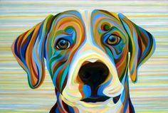 Beagle Puppy by Kate Hoyer. A surreal look into the eyes of a furry friend Dog Pop Art, Dog Art, Handmade Dog Collars, Jackson, Beagle Puppy, Baby Deer, Dog Paintings, Animal Nursery, Whimsical Art
