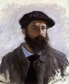 Αυτοπροσωπογραφία με μπερέ (1886) Κλοντ Μονέ