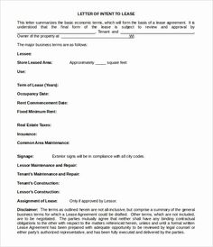 Letter Of Intent To Lease Sample 10 Real Estate Letter Of Intent Templates Free Sample Example, 10 Business Letter Of Intent Templates Free Sample Example, Simple Letter Of Intent Templates 18 Free Sample Example,