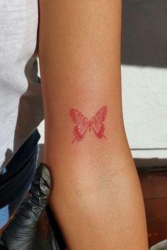Red Ink Tattoos, Dainty Tattoos, Pretty Tattoos, Mini Tattoos, Cute Tattoos, Colour Tattoos, Random Tattoos, Line Art Tattoos, Tatoos