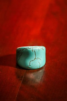 Turquoise Solid Stone Statement Ring