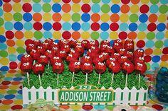 Elmo Cake Pops Birthday Fun, Birthday Ideas, Sesame Street Signs, Elmo World, Elmo Cake, Elmo Party, Old Love, Cake Pops, Twins