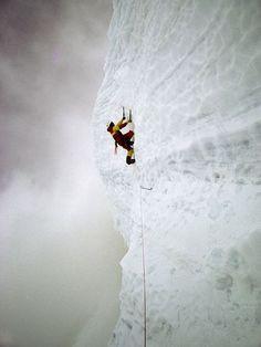 Climber on Mount McKinley