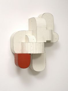 Ted Larsen is an internationally exhibited and international award winning artist working in New Mexico. His work, while not attempting to have any direct relationship to observed reality, does have referential qualities. Cardboard Sculpture, Art Sculpture, Abstract Sculpture, Wall Sculptures, Modern Art, Contemporary Art, Modernisme, Land Art, Bauhaus