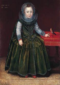 Portrait d'un garçon de 2ans, 1608 Marcus Gheeraerts le jeune