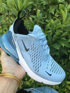 620ac20af6e Womens Winter Nike Air Max 270 Casual Sneakers Sky blue white NIKE-ND009980