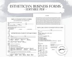 Esthetician Business Planner, Editable Skin Care Consultation Form, Facials Client Intake Form, Facials Esthetician Forms - The World of Makeup Waxing Aftercare, Microblading Aftercare, Salon Business, Business Planner, Etsy Business, Business Ideas, Facial Esthetician, Esthetician Room, Eyelash Technician