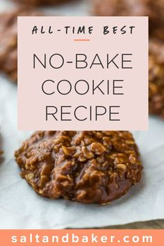 This is the best no bake cookie recipe out there! These chocolate peanut butter oatmeal no-bake cookies are soft, rich, and completely irresistible! Best No Bake Cookies, Oatmeal No Bake Cookies, Best Cookies Ever, Easy No Bake Desserts, Homemade Desserts, Delicious Desserts, Chocolate Peanut Butter Cookies, Peanut Butter Oatmeal, Chocolate Chips