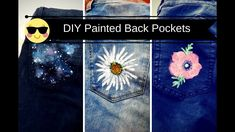DIY 3 Painted Back Pockets on Jeans | Painted Jeans Ideas | How to Paint...