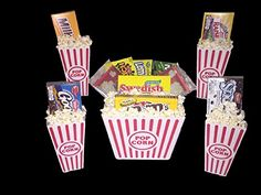 Deluxe Family Movie Night Theater Boxed Candy Popcorn Snack Gift Bundle Care Package Set