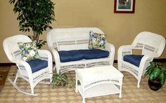 The Sanibel all white and all weather outdoor furniture group by Schober Co..