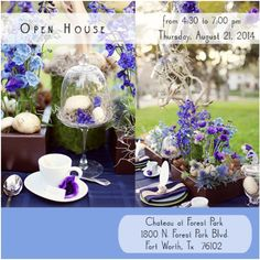 Annual Summer Open House (by invitation only) on Thursday August 21 at Chateau on Forest Park. Hosted by Bella Events from 4:30pm to 7pm.